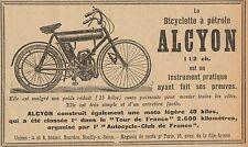 Y8247 Biciylette a pétrole ALCYON - Pubblicità d'epoca - 1907 Old advertising