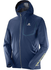 Salomon Men's Bonatti Pro WP Running Jacket Dress Blue
