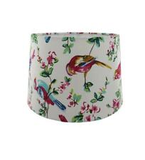 White Rio Fabric Empire Drum Lampshade Table or Ceiling Light Shade 28cm