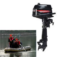 6 HP 2 Stroke Outboard Motor Tiller Shaft Boat Engine Water Cooling CDI System