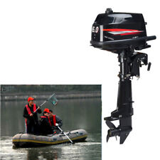 6 HP 2 Stroke Outboard Motor Tiller Shaft Boat Engine Water Cooling CDI System