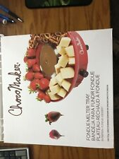 NIB Choco Maker Chocomaker Chocolate Fondue Set Electric Melter Dipping Tray New