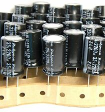 4pcs 2200uf 35v Rubycon Electrolytic Capacitors 35v2200uf Low Impedance UP 25v