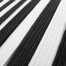 Elastic Flat cord tape tie down black or white 3 4 5 7 8 12 15 15 20 25 35 40 mm
