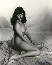 VINTAGE NUDE COLOR PHOTO BETTIE PAGE 8.5 X 11! BEAUTIFUL QUALITY GUARANTEED!