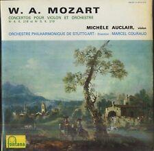 Michèle AUCLAIR, M. COURAUD, MOZART Concertos n° 4 & 5 French LP FONTANA 698087