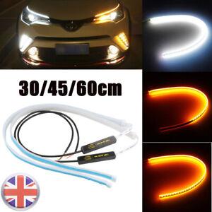 2pcs Sequential LED Strip Car Turn Signal Indicator DRL Daytime Running Light UK