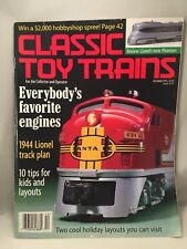 CLASSIC TOY TRAINS December 1998 Issue LIONEL 1944 TRACK PLAN, FAVORITE ENGINES