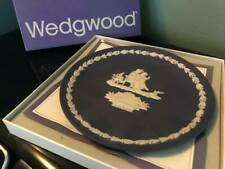 Wedgwood Mother Plate 1975 Portland Blue & White Jasper w/original box papers