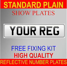 HIGH QUALITY REG NUMBER PLATES SHOW PLATES 1 x FRONT WHITE PLAIN PLATE CAR VAN