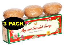 3 Bars of 150gm Natural Mysore Sandalwood Sandal Soap Skin Moisturize Fast Ship