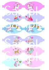 Unicorn hair bow making fabric simply cut out template bows canvas printed