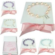 Bridesmaid Bracelets, Flower Girl, Maid of Honour, Thank you Gift, ANY Initial