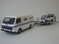 VW LT 28a VAN, LANCIA DELTA, TRAILER, MARTINI, 1:43 Scale, RALLY SUPPORT DIORAMA