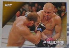 Georges St-Pierre GSP UFC 2015 Topps Knockout Gold Card #20 #d 99/99 100 167 158