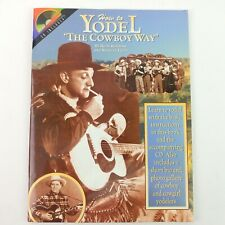 Autographed How to Yodel the Cowboy Way Rudy Robbins Guitar Sheet Music CD P3