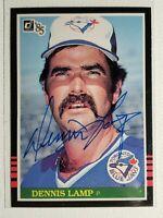 1985 Donruss Dennis Lamp Autograph Card Red Sox Blue Jays Cubs Auto #119
