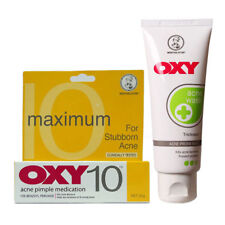 Treatment OXY 10 for Acne Pimple Benzoyl Peroxide 25g + Oxy Acne Wash 80g