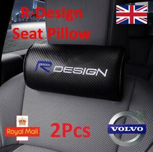 2x Volvo R design Car Headrest Pillow V40 C30 V50 XC90 V70 XC60 V60 S40 S60 XC40
