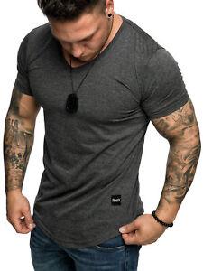 REPUBLIX Oversize Herren Slim-Fit V-Neck Basic Sommer T-Shirt V-Ausschnitt R0004