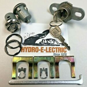 67-92 Firebird//Trans Am 68-72 GTO Door Lock Cylinder Kit w// Keys SATIN