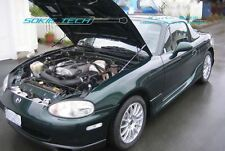 88-05 Mazda Miata MX-5 MX5 NA NB Black Strut Gas Lift Hood Shock Damper Kit