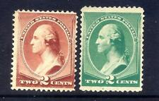 US Stamps - #210+213  - MNG - 2 cent Washington Issues  - CV $32