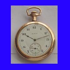 Fabulous WW1 14k Gold Elgin 17 Jewel RR Pocket Watch 1916
