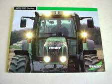 Fendt 400 & 700 Series Farm Tractor Color Brochure 28 Pages                   b1