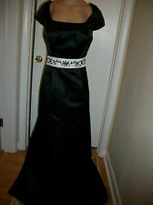 FORMAL EVENING BALL GOWN WEDDING PROM DRESS PARTY COCKTAIL SIZE  16 BLACK NWOT