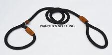 WARNER BRAIDED NYLON ROPE BRITISH SLIP LEAD DOG LEASH >BLACK< 1/2 inch X 6 foot