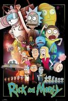 Rick and Morty Poster Wars - Serienplakat Premium Design Hochformat 61 x 91,5 cm