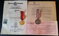 ✚7307✚ WW1 Hungarian & Bulgarian War Commemorative Medal award certificates