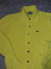 Vintage Lacoste Izod Neon Yellow Cardigan Sweater Us Mens Size Large Button Up