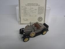 Danbury Mint 1931 Ford Model A Deluxe Roadster w/ Certificate