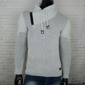 Inverno Uomo Maglia BIANCO Polo Dolce Vita a collo alto maglione Caldo Invernale