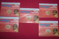 Lot 5 (10) Light Jac-O-Net Mirage Invisible Hair Net Light Brown/Blond Hair #146