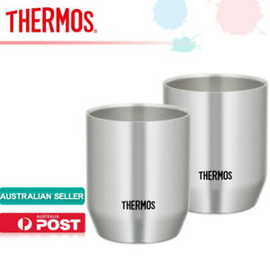 THERMOS JDH-360P (S) Vacuum Insulation Double Wall Stainless Cup 360ml  2pcs Set