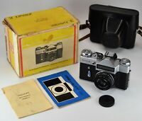 "NEAR EXC! EXPORT USSR ""ZENIT-E"" camera + INDUSTAR-50-2 lens f3.5/50mm, FULL SET"