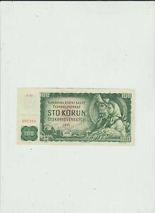 CZECHOSLOVAKIA   100  KORUN  1961