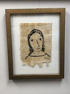 Theodore Wassmer Woman  Portrait  Painting