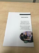 GENUINE LAND ROVER RANGE ROVER SERVICE BOOK SPORT EVOQUE FREELANDER DISCOVERY