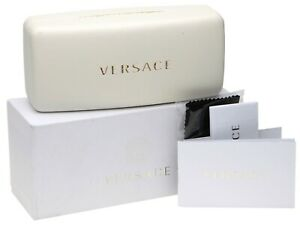 VERSACE LARGE WHITE CASE Eyeglasses Sunglasses w/ Accessories3 162x72x65 (NOTES)