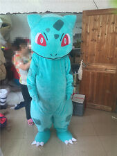 BULBASAUR Pokemon pikachu Short hair velvet Mascot Costume Adult Fancy Dress