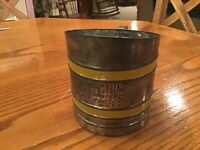 Foley Sift Chine squeeze handle style vintage 1940's tin flour sifter I077