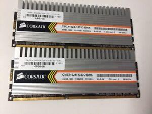 CM3X1024-1333C9DHX Corsair 1GB PC3-10600 DDR3-1333MHz non-ECC lot of 2