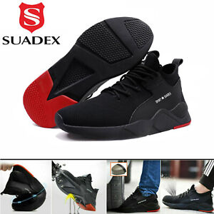 Mens Safety Shoes Work Trainers Womens Steel Toe Cap Lightweight Hiking Boots UK