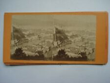 VUE STEREO PHOTO   SUISSE LUCERNE ALBUMINE