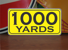 Vintage 1000 Yard Marker Metal Sign 4 Golf Club Yardage for Golf Course gun