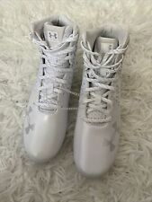 New listing NEW Under Armour Highlight MC Lacrosse Cleats White 3022078-100 Womens Size 6